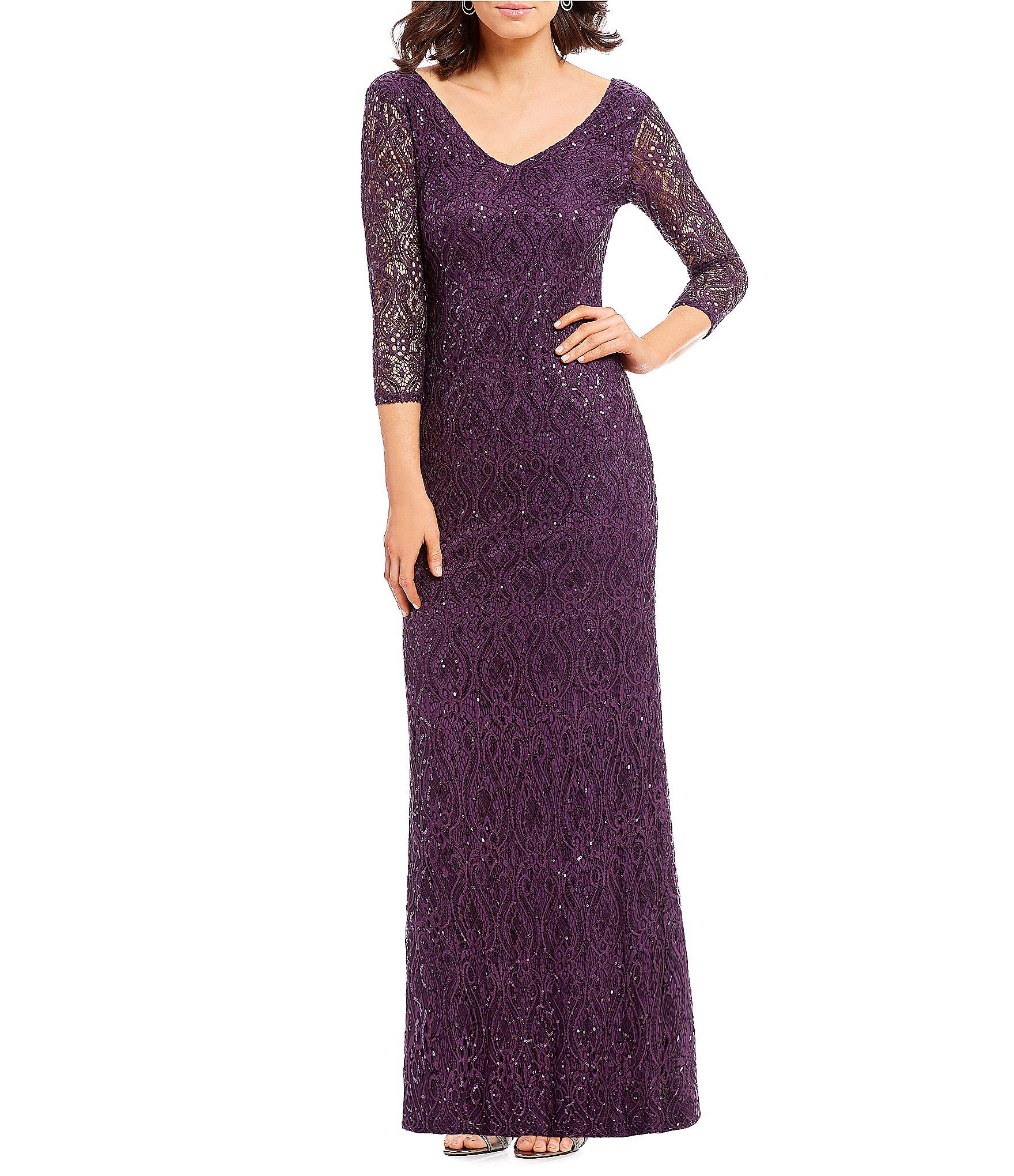 Dillards Mother of Bride Dresses Purple