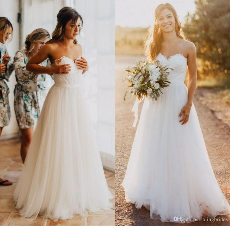 Simple White Wedding Dresses for the Beach