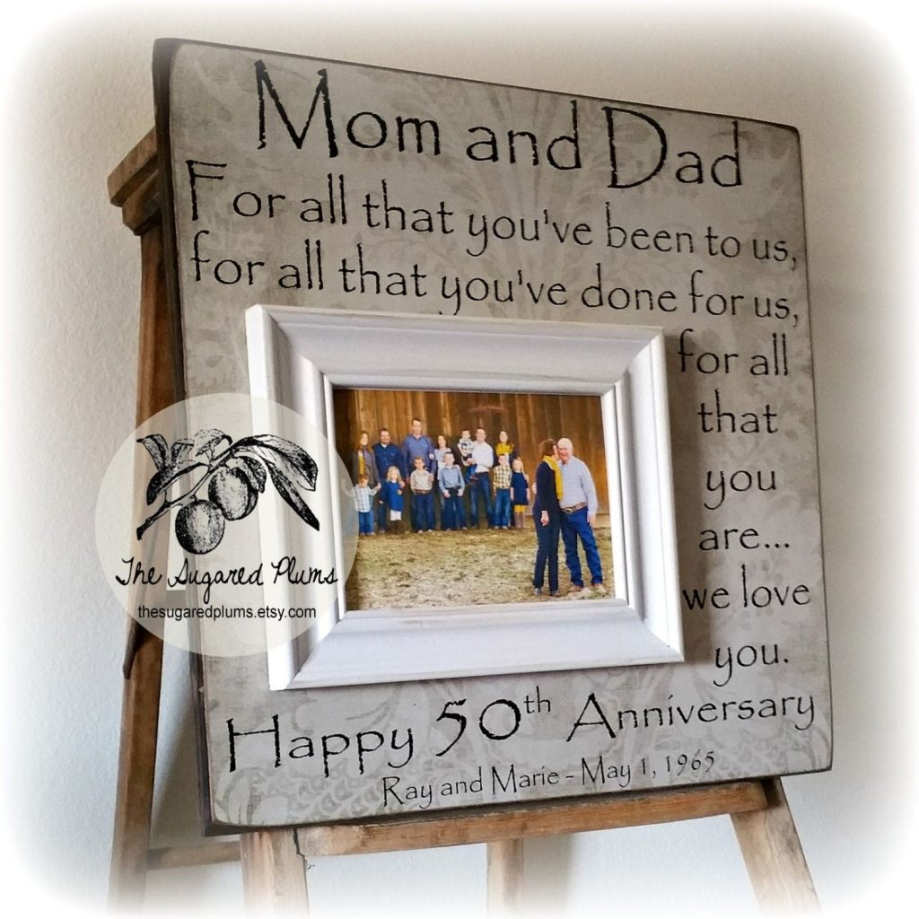 50th Wedding Anniversary Gifts for Parents Wedding Ideas