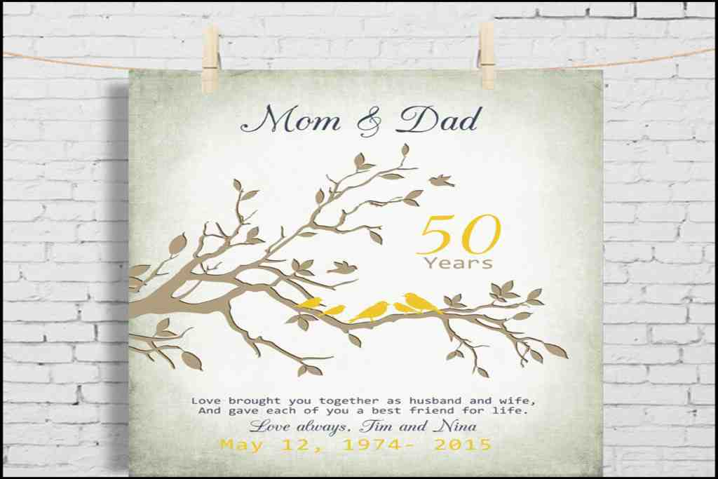 50th Wedding Anniversary Gifts for parent
