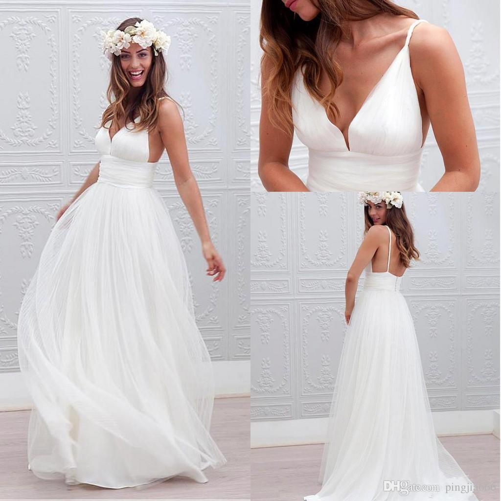 Romantic Boho Beach Wedding Dresses