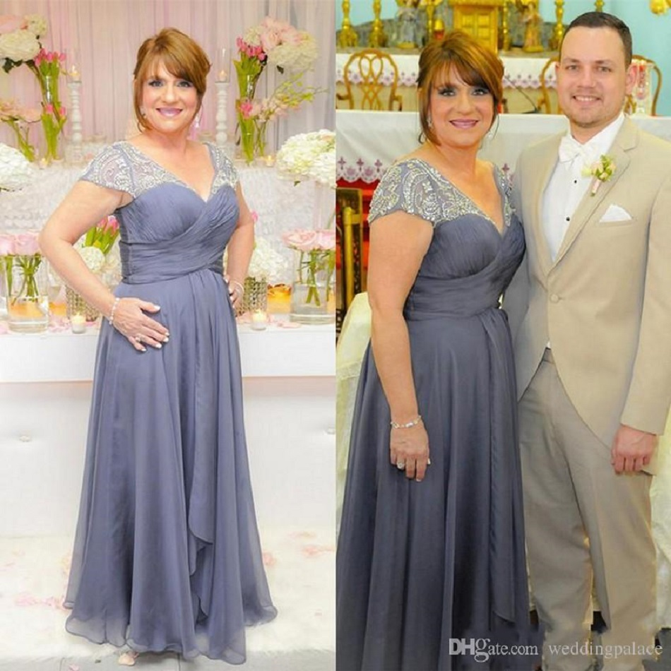 Grey Plus Size Mother Of The Bride Dresses