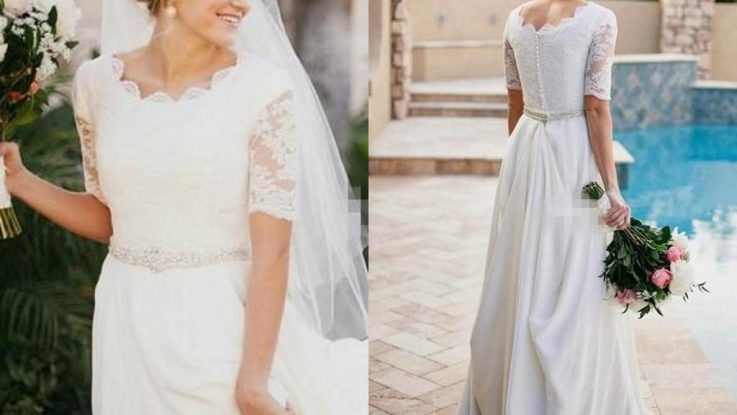 Awesome White Casual Beach Wedding Dresses