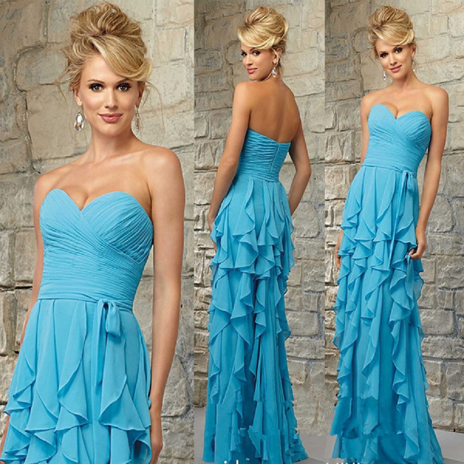 Blue Beach Wedding Dresses Guests