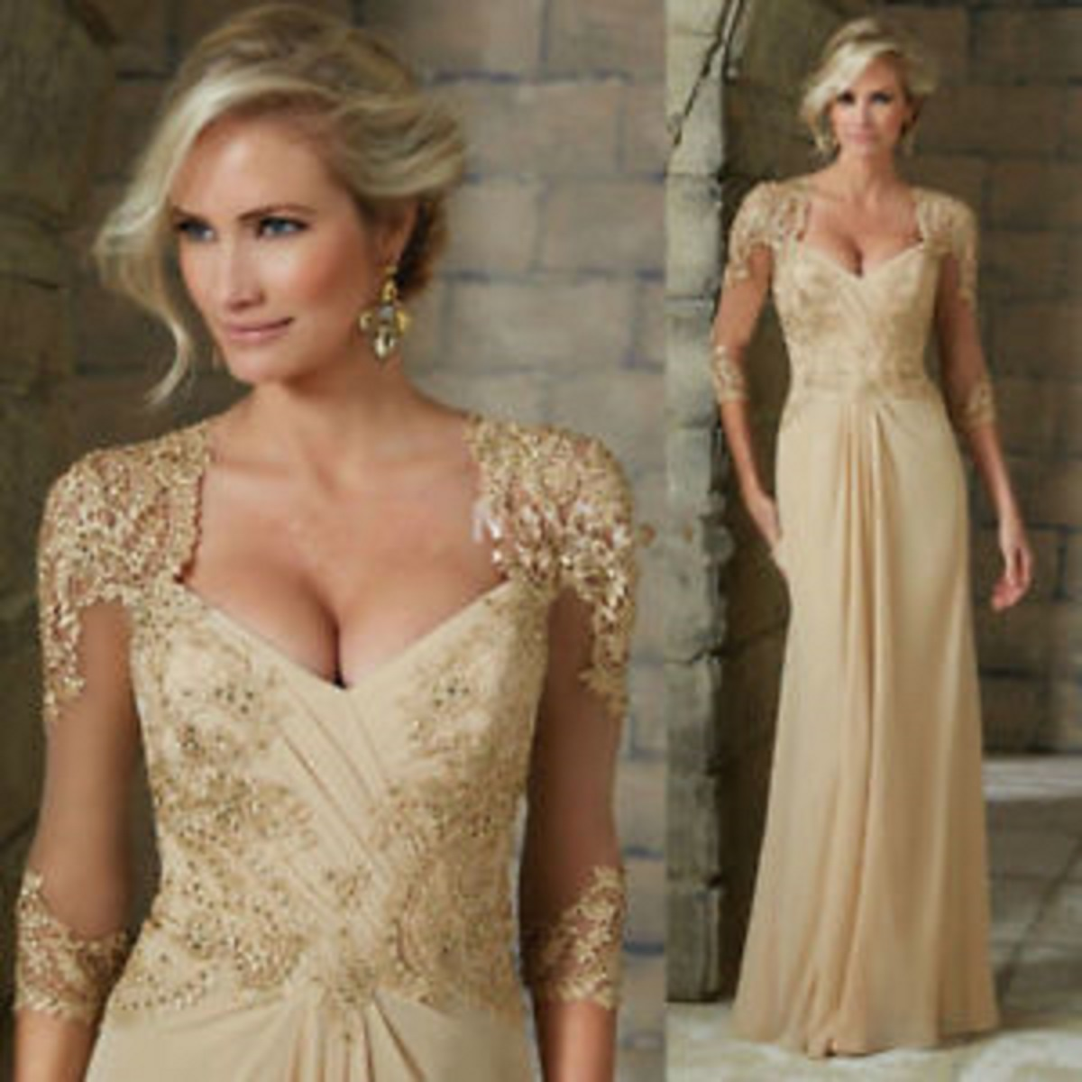 beaded mother of bride dresses