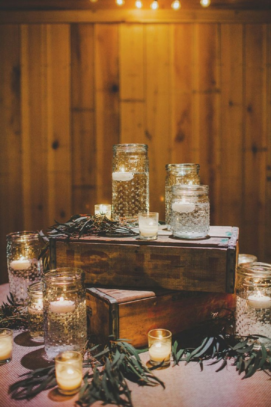 candles for rustic wedding