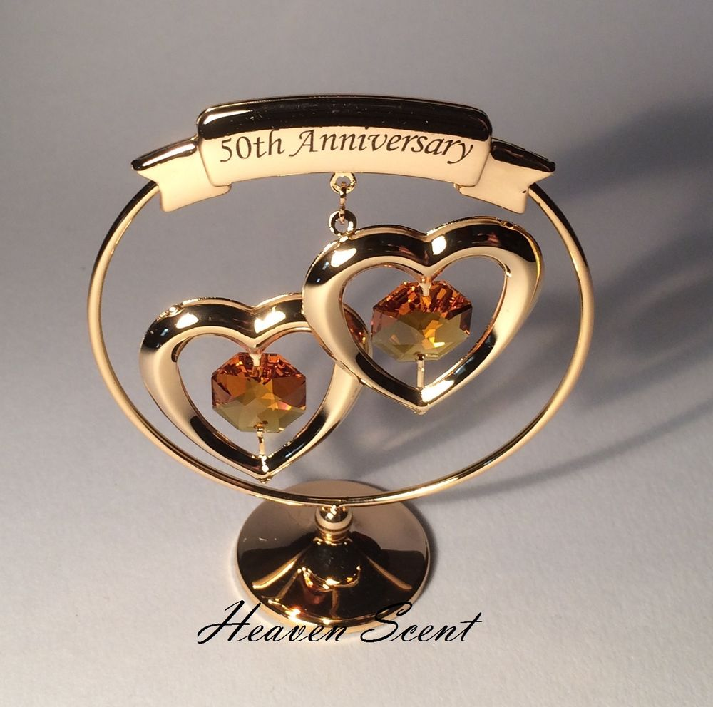 it's golden heart shaped gift for the golden wedding anniversary