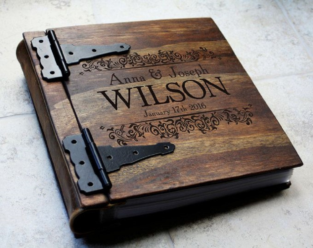 it's personalized modified photo album that you can give as wedding gift for parents