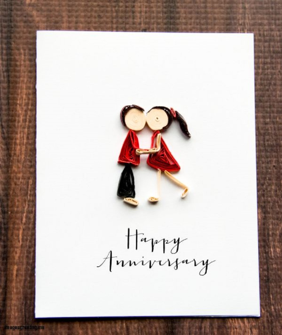 it's wedding anniversary card