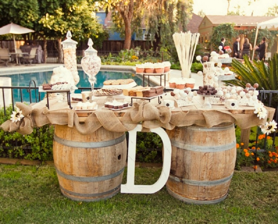Country Wedding Decoration Ideas for table