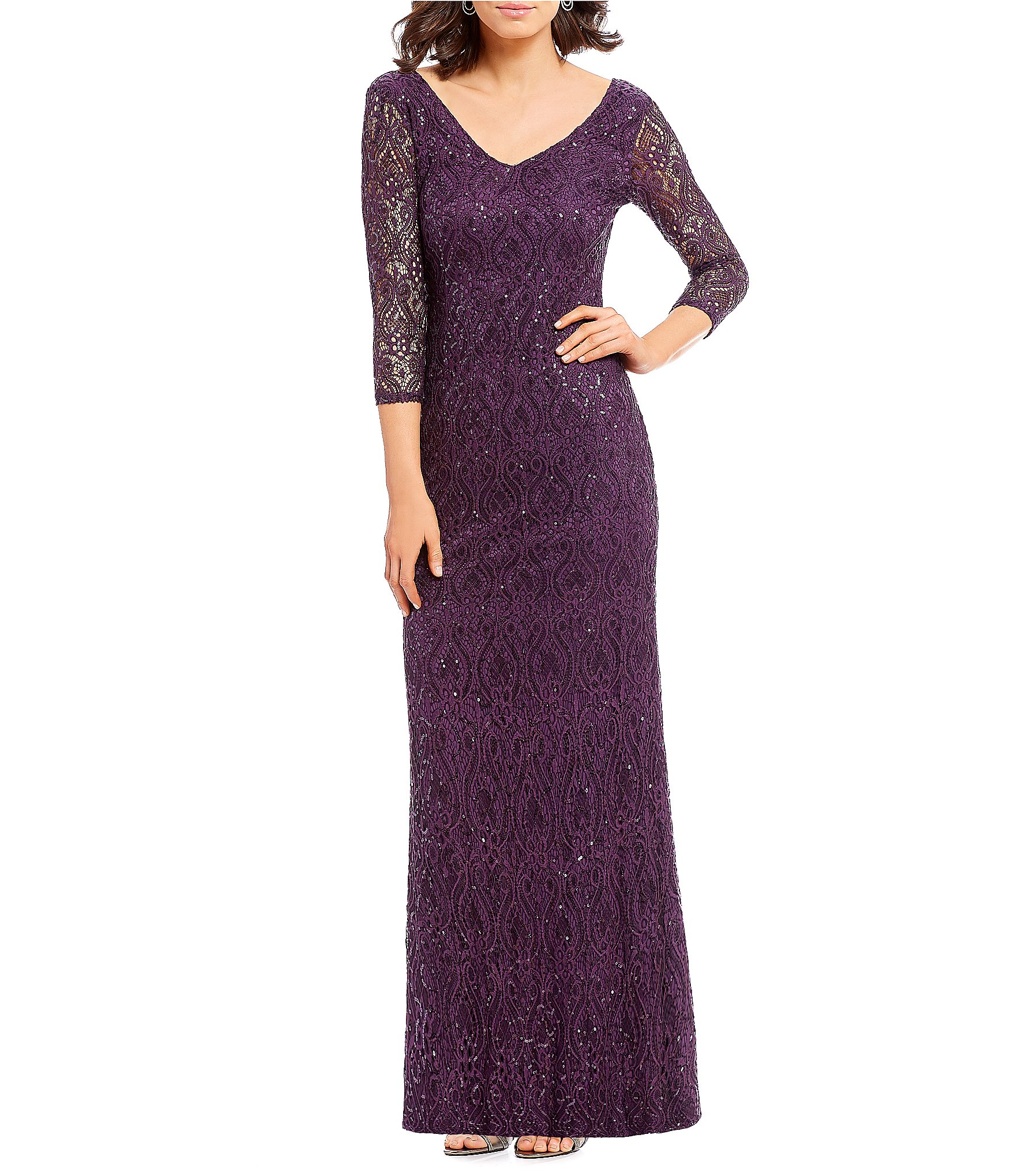 Dillards Mother of Bride Dresses Purple