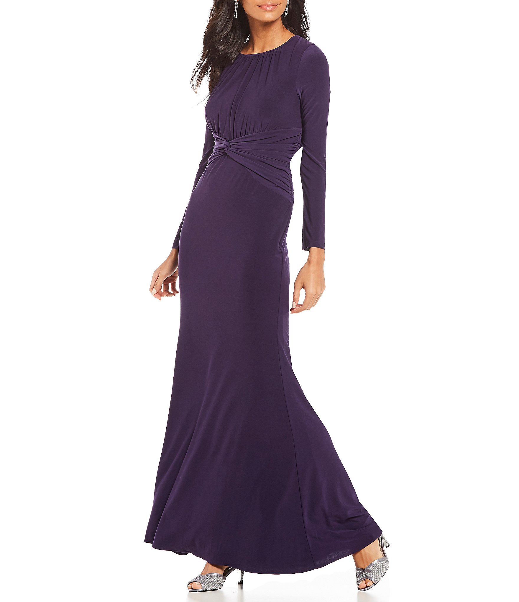 Purple Dillards Mother of Bride Dresses