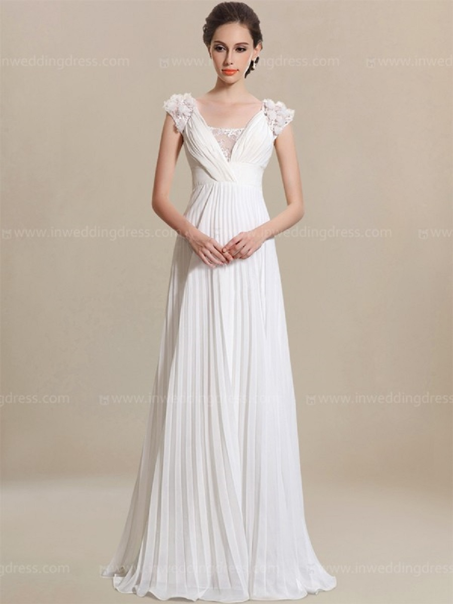 Simple Wedding Dresses White
