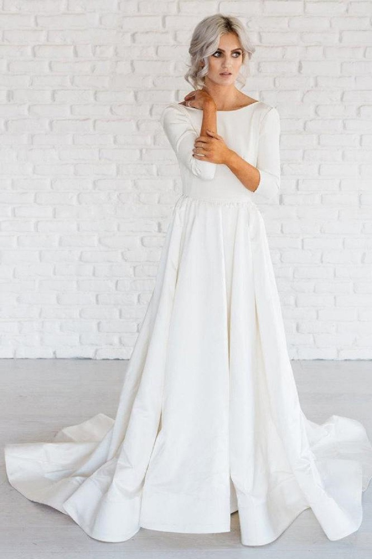 White Simple Wedding Dresses