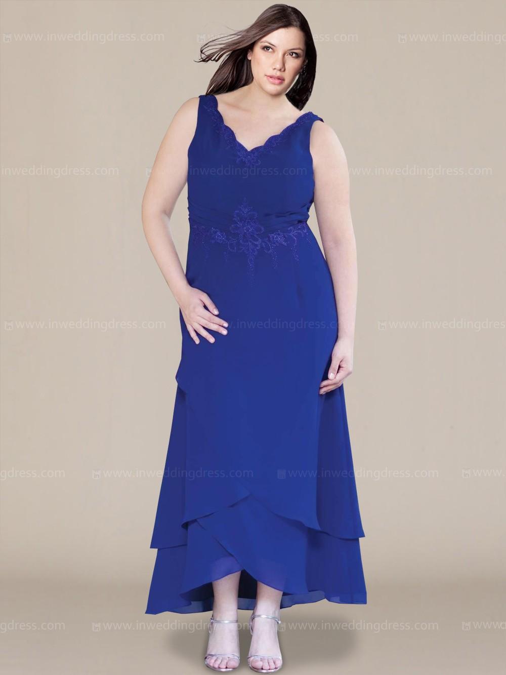 Blue Plus Size Mother Of The Bride Dresses