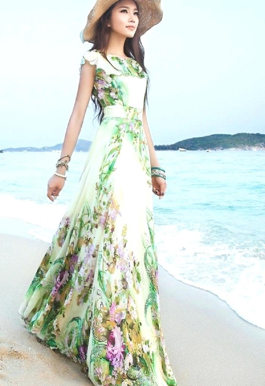 Collorful Beach Wedding Dresses Guests
