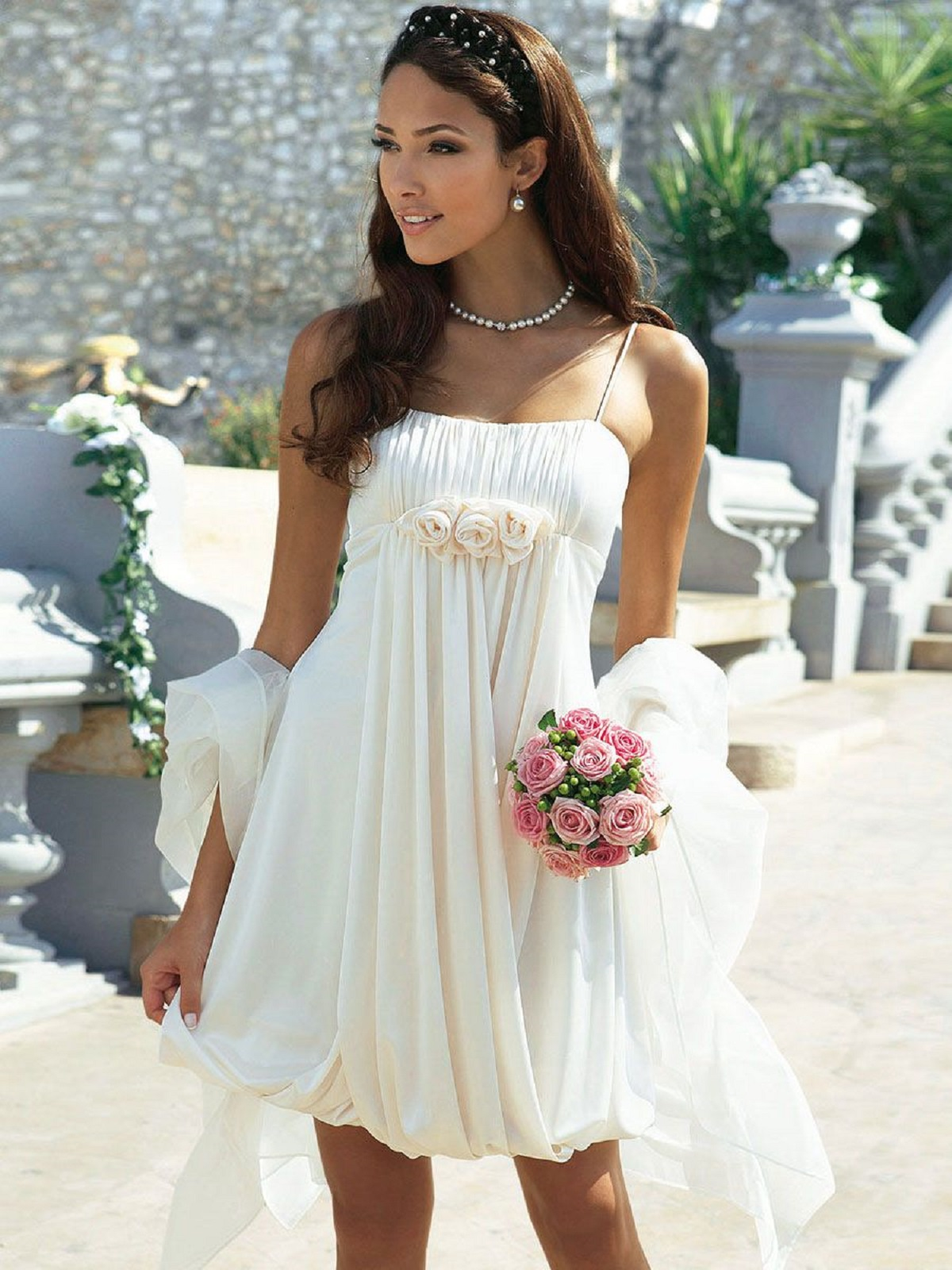 short beach wedding dress