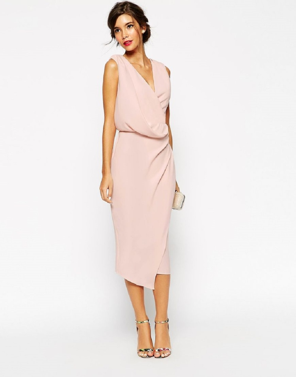 casual midi dress for mother of the bride