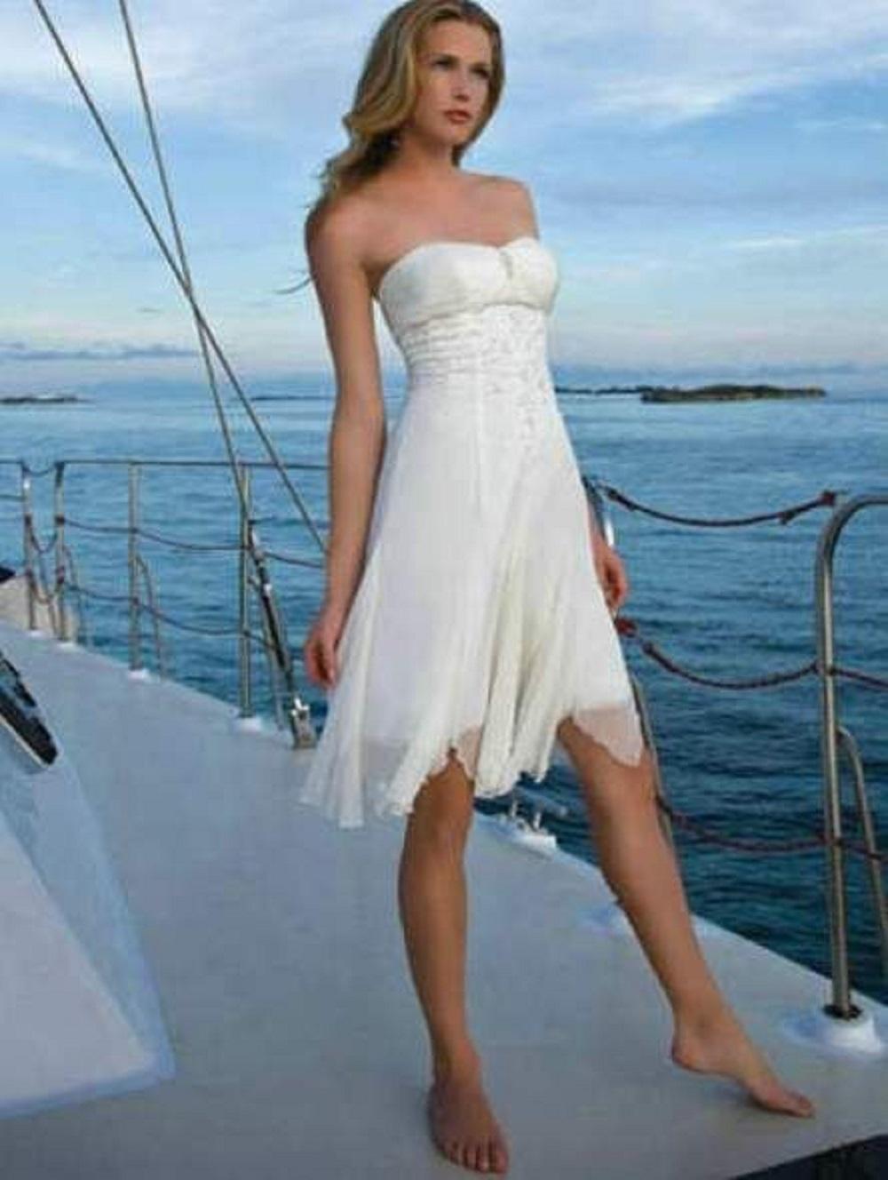 chiffon beach wedding dresses 1