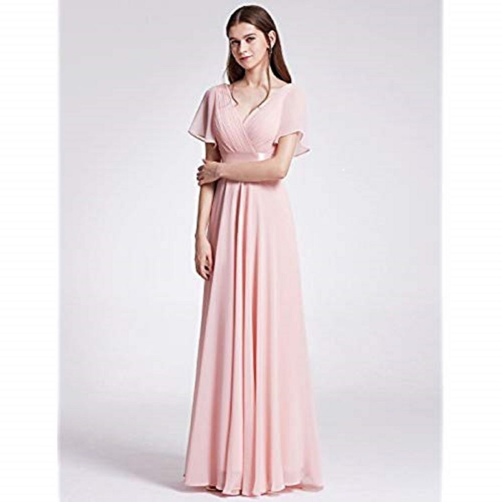 short sleeves casual mother of bride dresses