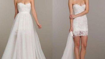 two piece short beach wedding dress 1