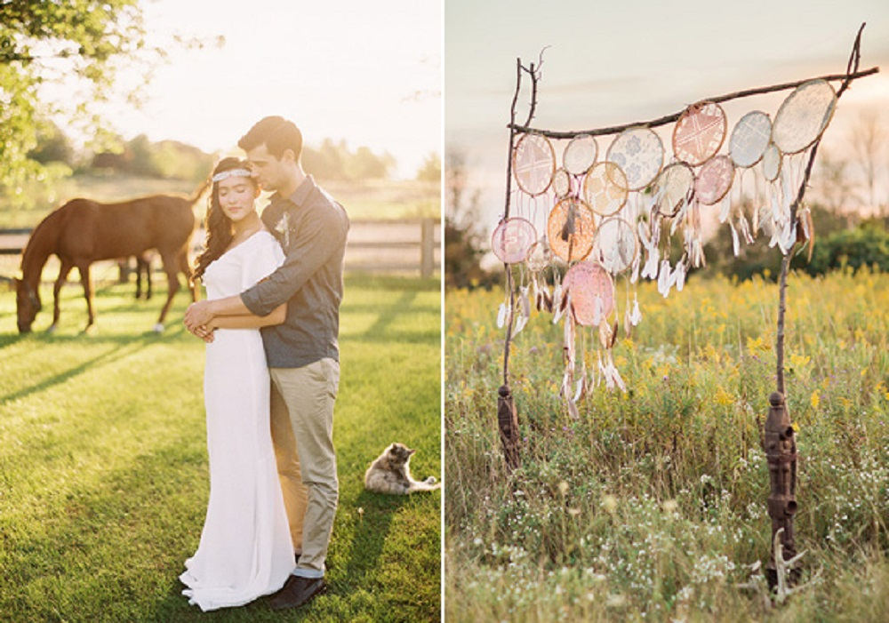 bohemian wedding theme ideas