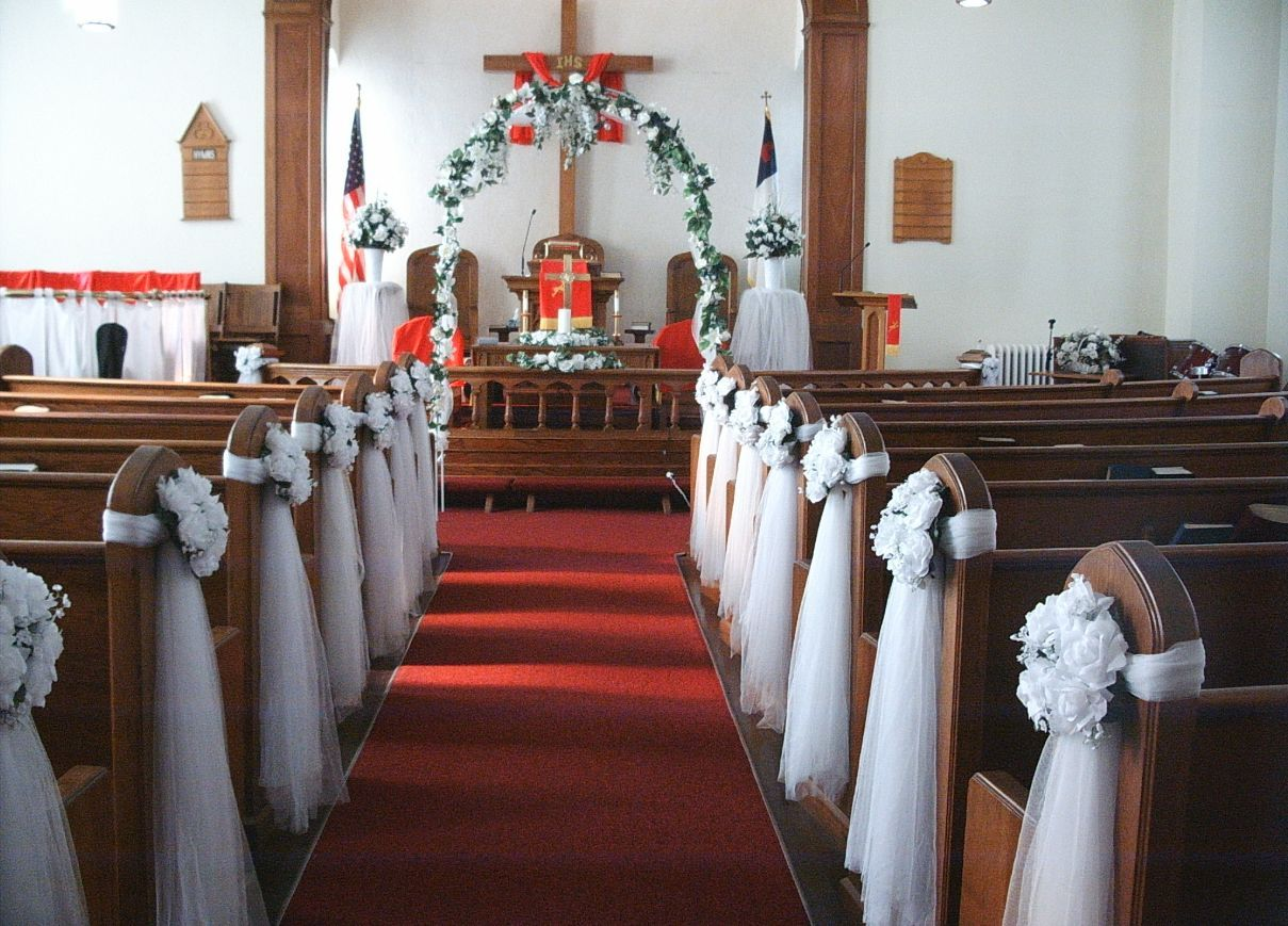 Simple Altar Church Wedding Decoration