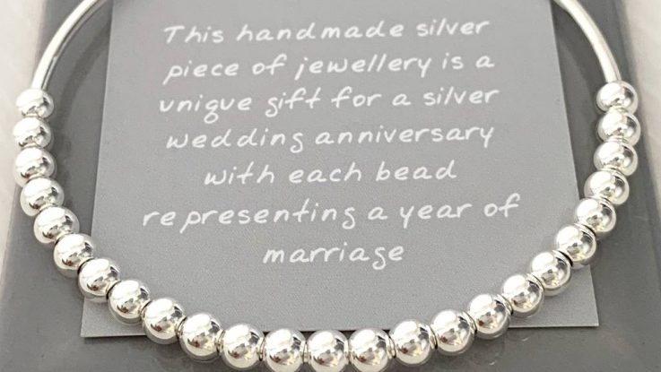 25th silver traditional wedding gift