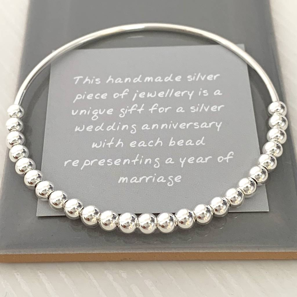 it's a silver jewelry for 25th anniversary gift - traditional wedding gifts