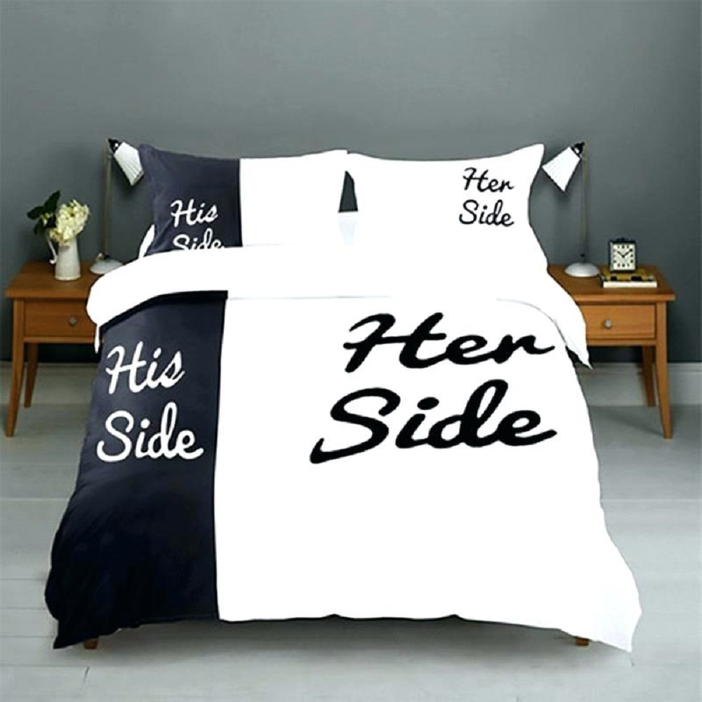 unique cute bedding set for wedding gift for best friend