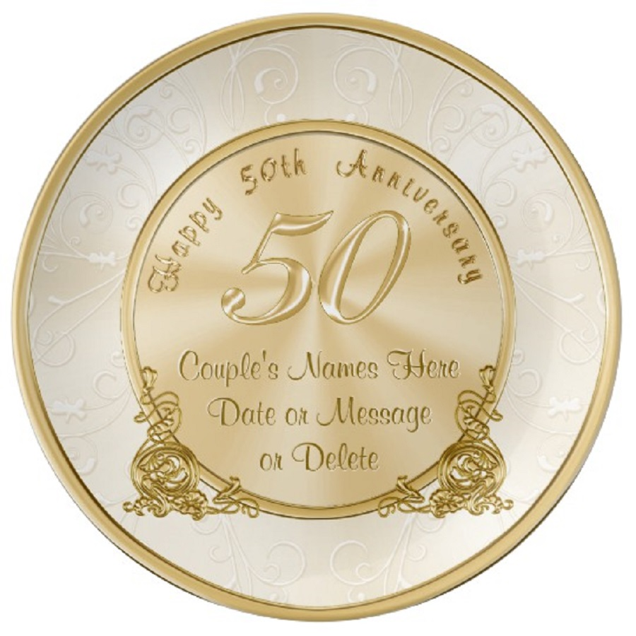 it's a gold as 50th wedding anniversary - traditional wedding gifts