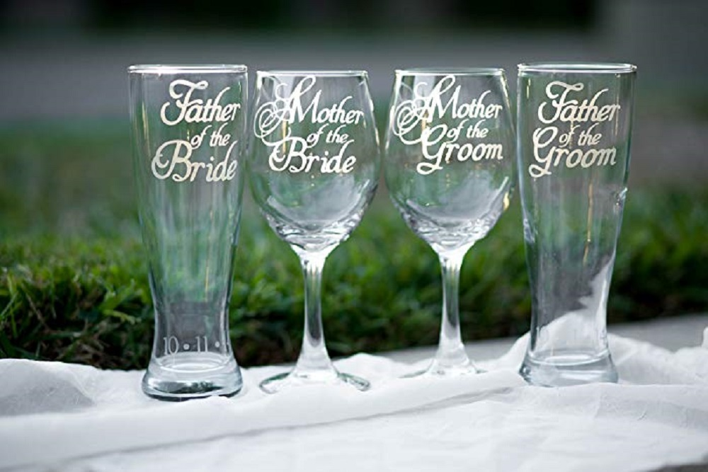 Simple personalized glassware personalized glassware Wedding Gift for Parents