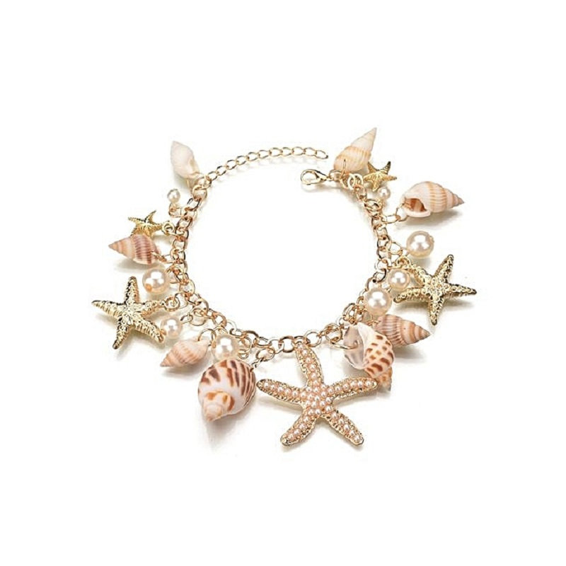 beautifull seashell charm bracelets for women