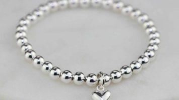 silver charm bracelets for women