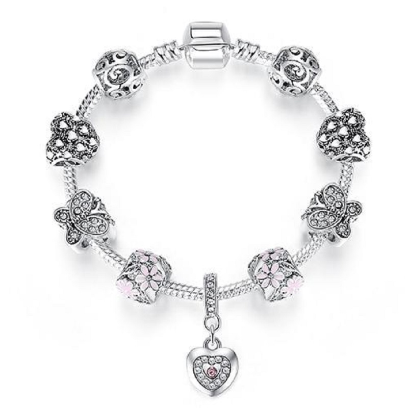 it's silver charm bracelets for women