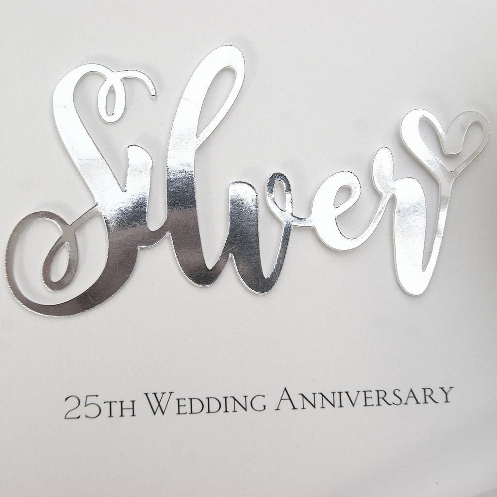 Cute silver wedding anniversary years gifts