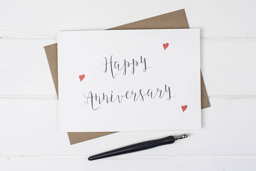 wedding anniversary years card