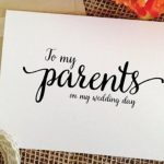 Wedding Gift for Parents: Ideas and Etiquette