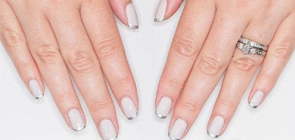 elegant wedding nail art for bridal