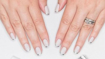 elegant wedding nail art for bridal