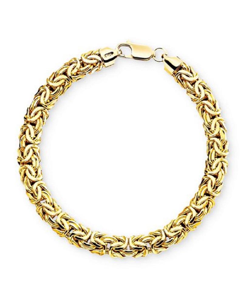 Byzantine gold chain bracelets shape