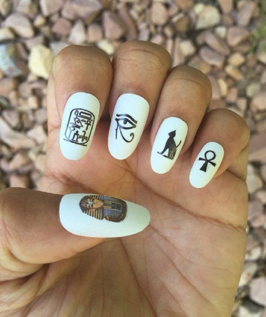 it's a picture of casual nail art designs