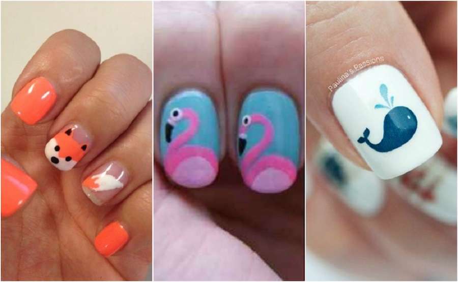 cute easy nail designs with animal print for 9 year old