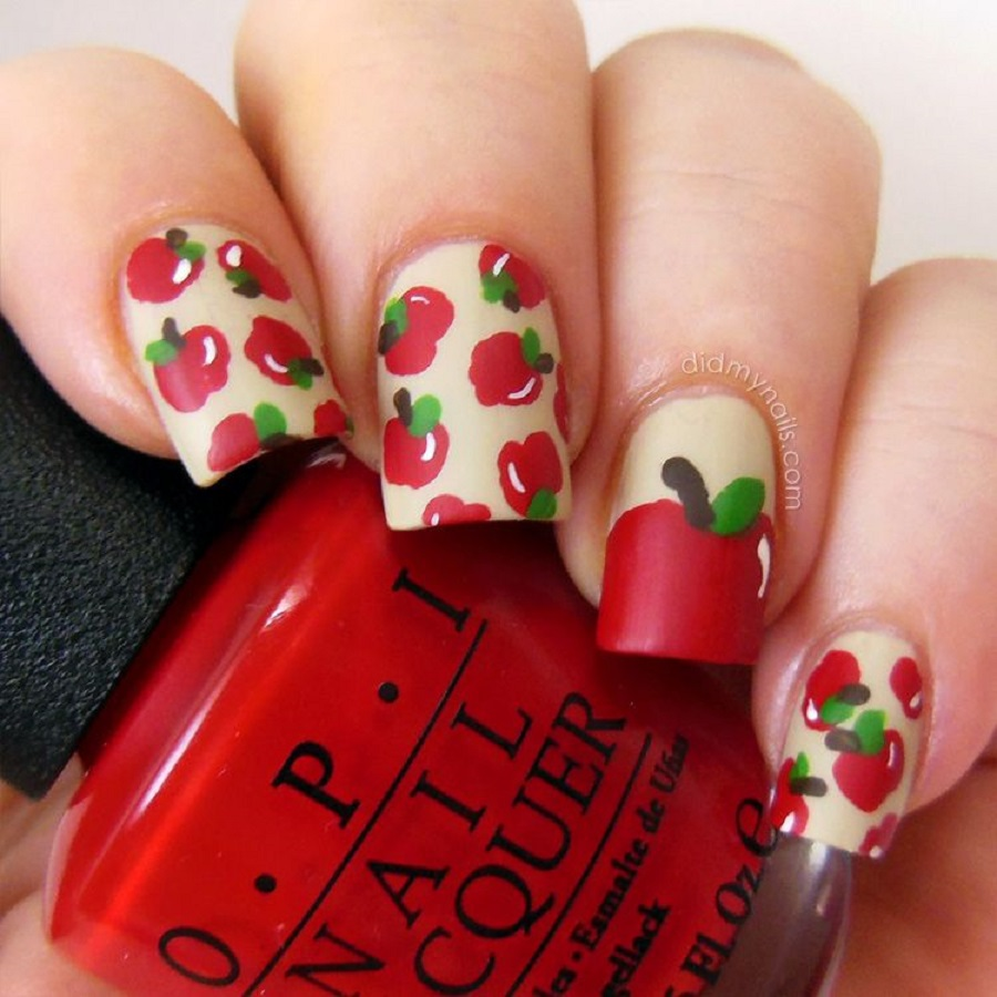 apple -vibe cute easy nail designs