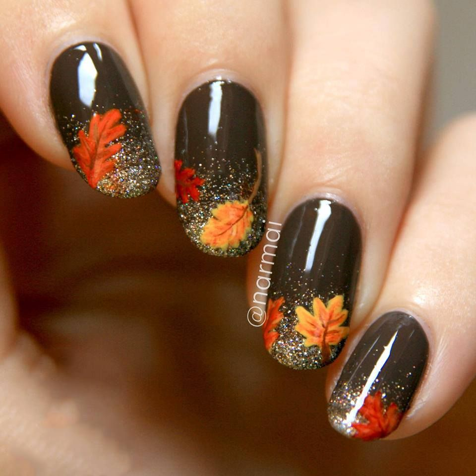 homemade easy nail designs with autumn vibes