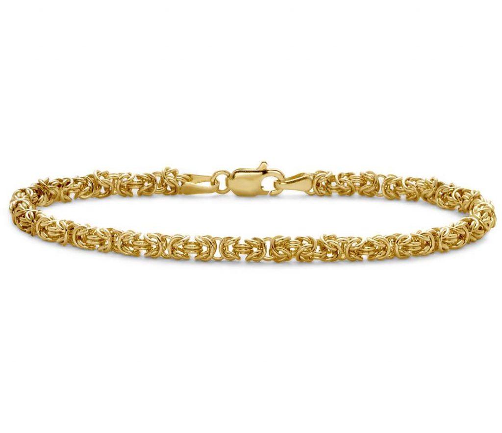 briliant gold chain bracelet 24k