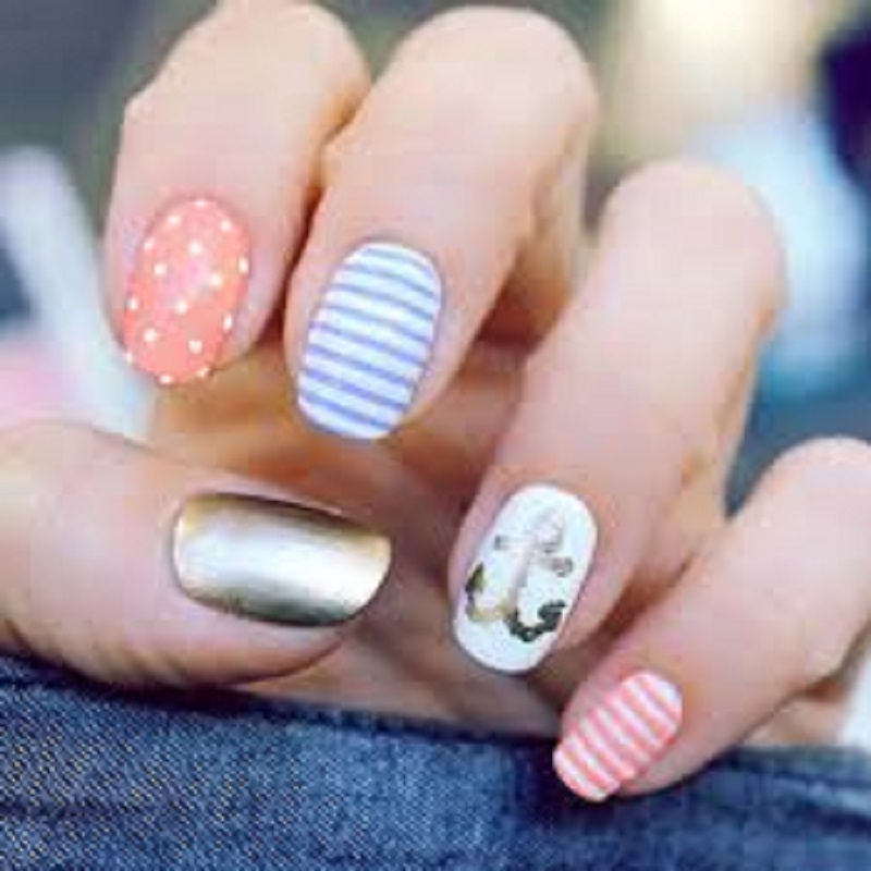 it's a picture of casual nail arts design