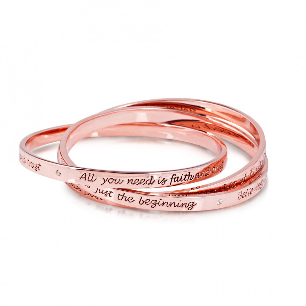 engraved rose gold bangle design for personalized