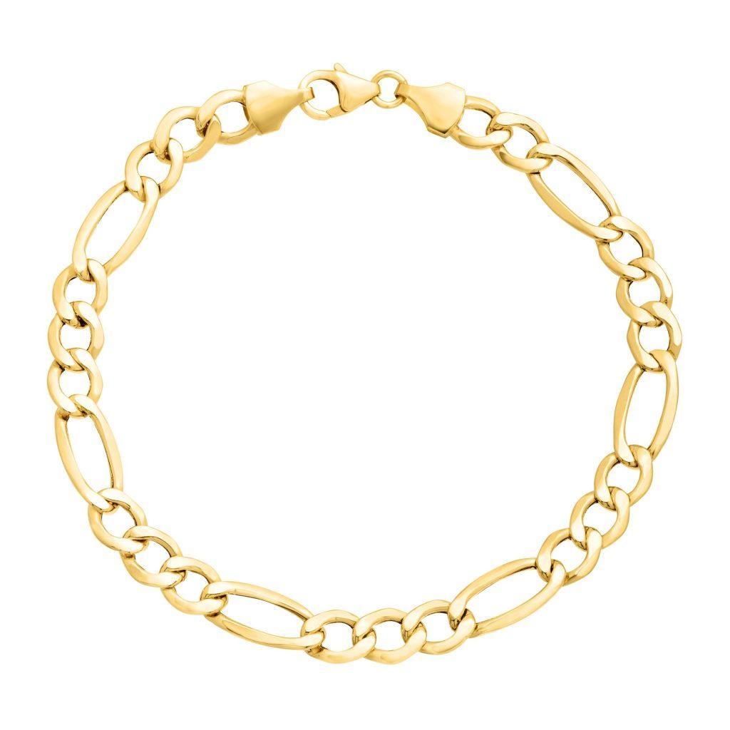figaro gold chain bracelet 10k