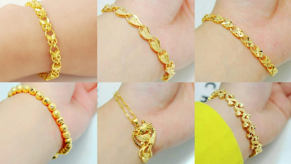 elegant gold bracelet designs for wedding